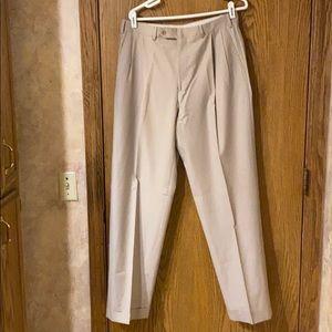 Samuelsohn Super 110's Khaki Dress Pants 34 Reg